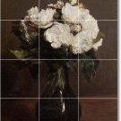Fantin-Latour Flowers Tile Dining Mural Room Renovate Design