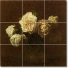 Fantin-Latour Flowers Wall Dining Room Murals Floor Renovate