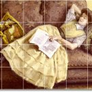 Fischer Women Tile Mural Room Idea Commercial Remodeling Design