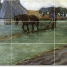 Frieseke Horses Murals Tile Wall Bedroom Ideas Decorating Home