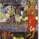 Gauguin Mother Child Tile Backsplash Mural Modern House Decorate