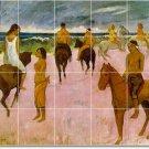 Gauguin Horses Mural Room Tiles Contemporary Interior Renovations