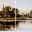 Glendening Landscapes Mural Room Tiles Dining Modern Home Decor