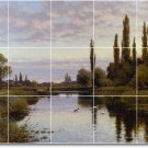 Glendening Landscapes Tiles Dining Mural Room Decor Modern Home