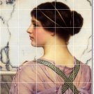 Godward Women Floor Mural Room Tiles Decorate Traditional House