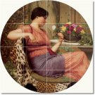 Godward Women Living Tile Room Traditional Interior Decorating