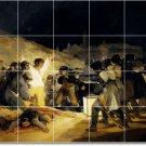 Goya Historical Mural Shower Tiles Interior Modern Renovation