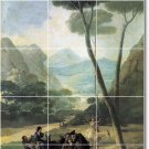 Goya Landscapes Tiles Shower Mural Renovation Modern Interior