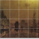 Grimshaw Waterfront Mural Bathroom Shower Wall Residential Decor