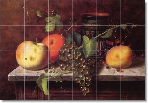 Harnett Fruit Vegetables Tiles Kitchen Mural Commercial