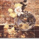Hassam Flowers Backsplash Kitchen Mural Tile House Design Modern