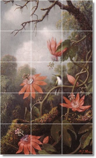 Heade Birds Kitchen Backsplash Mural Tile Modern House Decorate