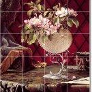 Heade Flowers Tile Backsplash Mural Kitchen Wall Modern Design