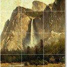 Hill Waterfalls Mural Shower Tile Interior Renovations Design