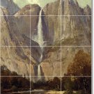 Hill Waterfalls Mural Tile Shower Interior Design Renovations