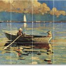 Homer Waterfront Living Mural Wall Tiles Room Decor Home Remodel