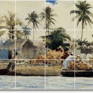 Homer Waterfront Mural Tile Room Dining Wall Modern Remodel Home