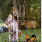 Homer Country Wall Bathroom Murals Tile Decorating Modern Home