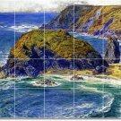 Hunt Waterfront Murals Backsplash Kitchen Wall Interior Decor