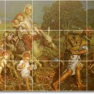 Hunt Religious Tile Dining Murals Room House Traditional Remodel