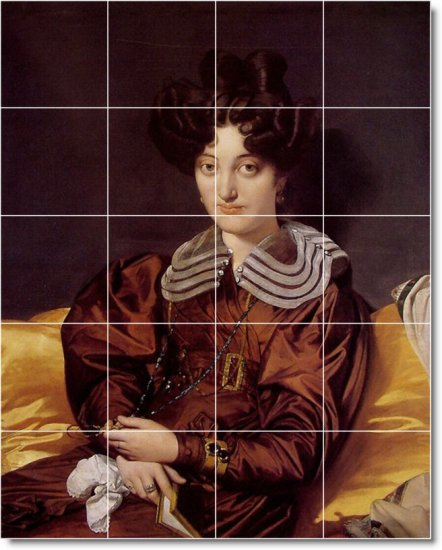 Ingres Women Mural Room Tiles Contemporary Interior Renovations