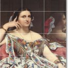 Ingres Women Mural Tiles Room Contemporary Renovations Interior
