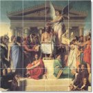 Ingres Historical Mural Tile Bathroom Shower Renovate Ideas Home
