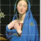 Ingres Religious Mural Backsplash Tile Contemporary Construction