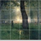 Inness Landscapes Mural Dining Room Tile Remodeling Ideas House