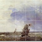Jongkind Ships Bedroom Mural Tiles Wall Construction Traditional