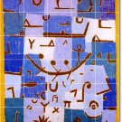 Klee Abstract Mural Dining Floor Room Interior Idea Decorating