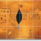 Klee Abstract Mural Room Dining Floor Decorating Interior Idea