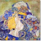 Klimt Abstract Tiles Mural Shower Wall House Remodel Traditional