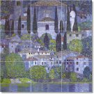 Klimt Village Tile Room Mural Living Construction House Design