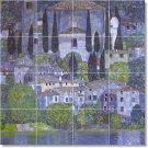 Klimt Village Tile Mural Living Room Construction Design House