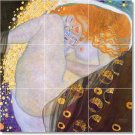 Klimt Nudes Wall Dining Room Tiles House Traditional Remodeling
