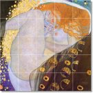 Klimt Nudes Wall Room Dining Tiles Remodeling Traditional House