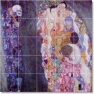 Klimt Abstract Living Mural Tiles Wall Room Contemporary Remodel