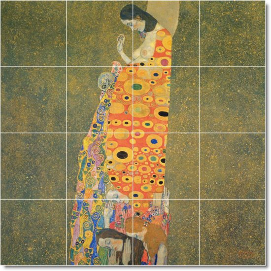 Klimt Abstract Room Tiles Living Mural Wall Home Renovation Idea