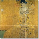 Klimt Abstract Room Tiles Mural Living Wall Renovation Idea Home