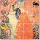 Klimt Abstract Wall Tiles Living Room Mural Renovate Home Modern