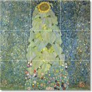 Klimt Flowers Shower Mural Tile Bathroom Remodeling Home Ideas