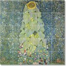 Klimt Flowers Shower Tile Mural Bathroom Ideas Home Remodeling
