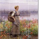 Knight Garden Room Mural Tile Wall Traditional House Decorating