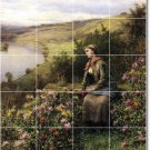 Knight Garden Room Tile Mural Wall House Traditional Decorating