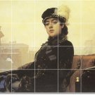 Kramskoy Women Mural Tiles Bedroom Home Renovations Contemporary