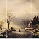 Leickert Landscapes Tiles Room Mural Floor Decorating Idea House
