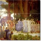 Leighton People Murals Shower Tile Decorate Construction Home