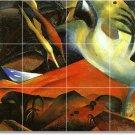 Macke Abstract Floor Tiles Room Mural Commercial Decorating Idea
