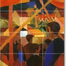 Macke Abstract Floor Tiles Mural Room Commercial Idea Decorating